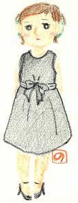 パーティドレスの着こなし【1】イラスト